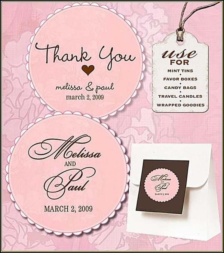 Wedding Favor Labels Template Free