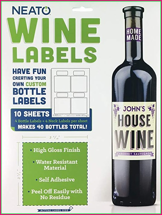 Wine Bottle Neck Tag Template