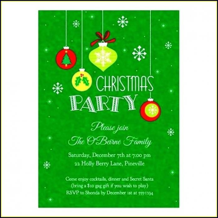 Word Document Christmas Invitation Templates For Word