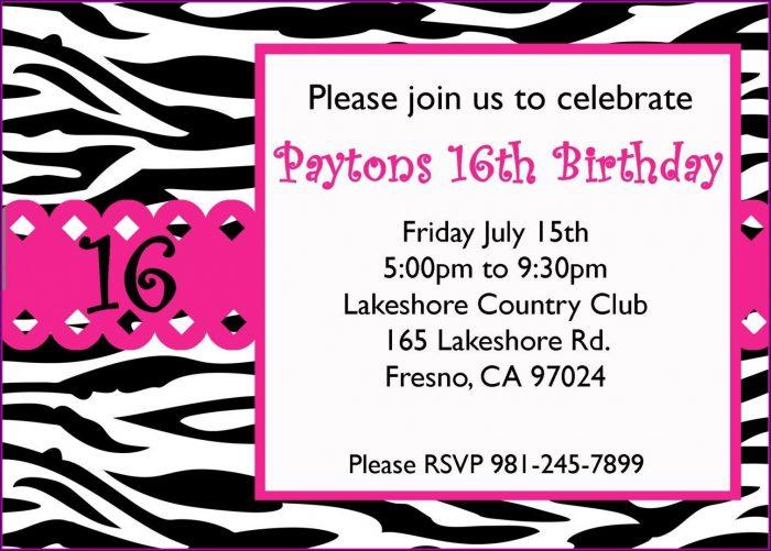 16th Birthday Invitations Templates