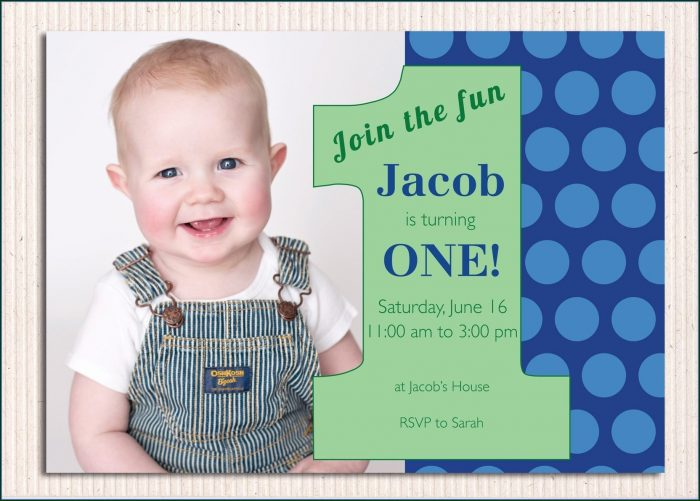 1st Birthday Invitations Boy Templates Free