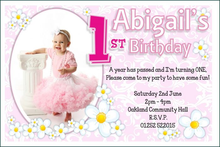 1st Birthday Invitations Templates Free