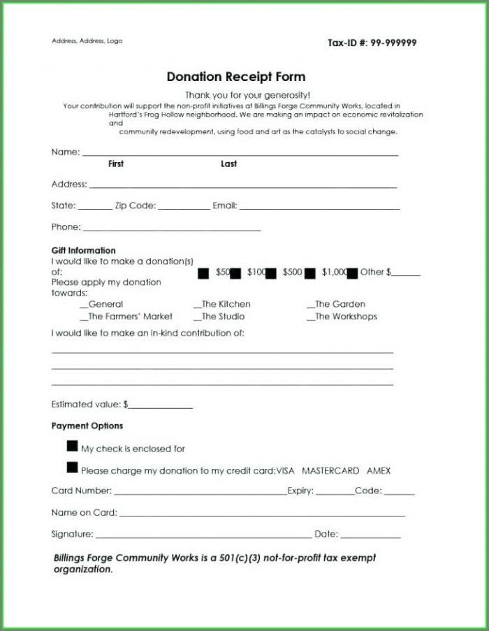 501c3 Non Profit Donation Letter Template
