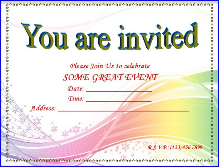 50th Birthday Invitation Templates Microsoft Word