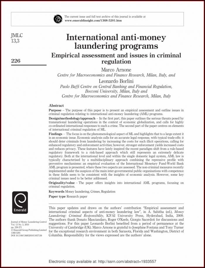 Aml Policy Template Singapore