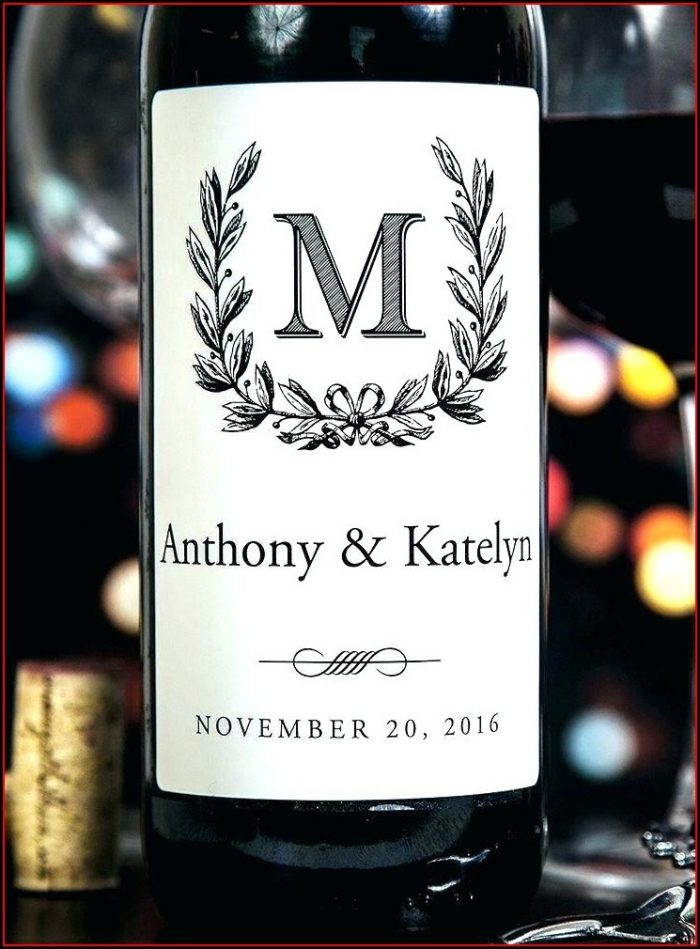 Anniversary Wine Label Template
