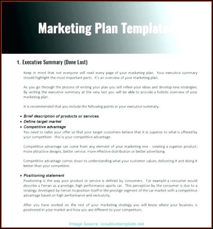 Apartment Marketing Plan Template