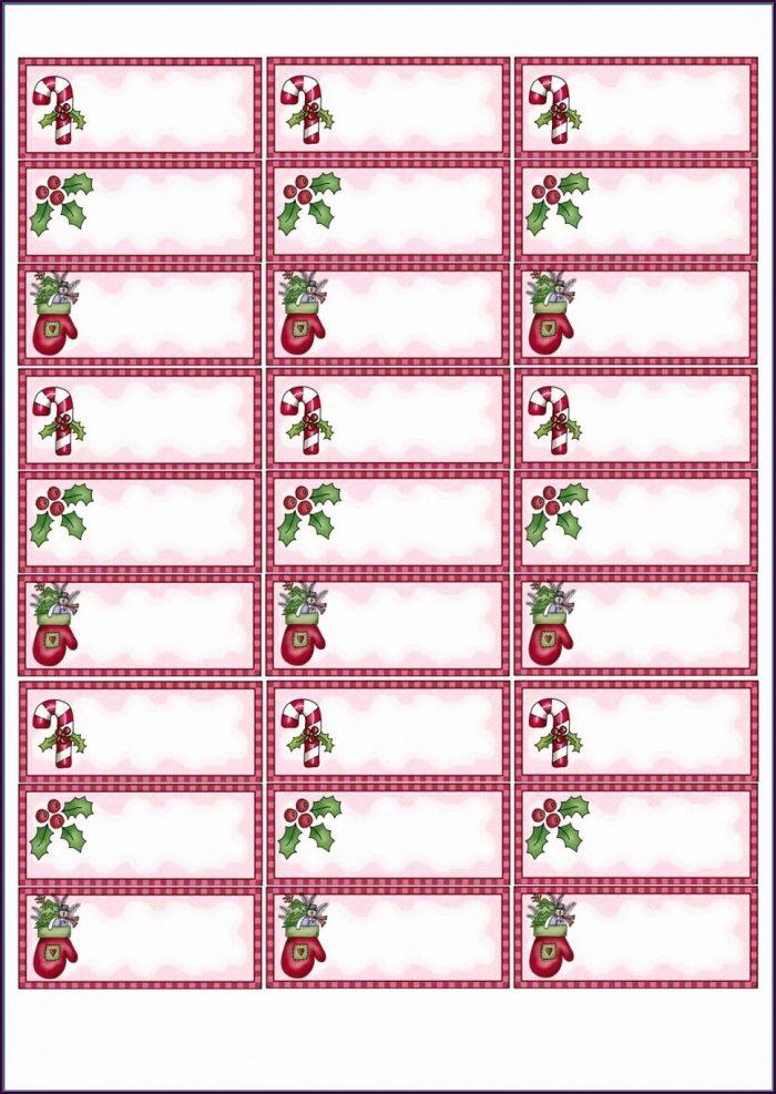 Avery Christmas Return Address Labels Template