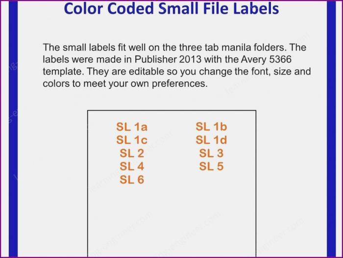 Avery File Folder Label Templates