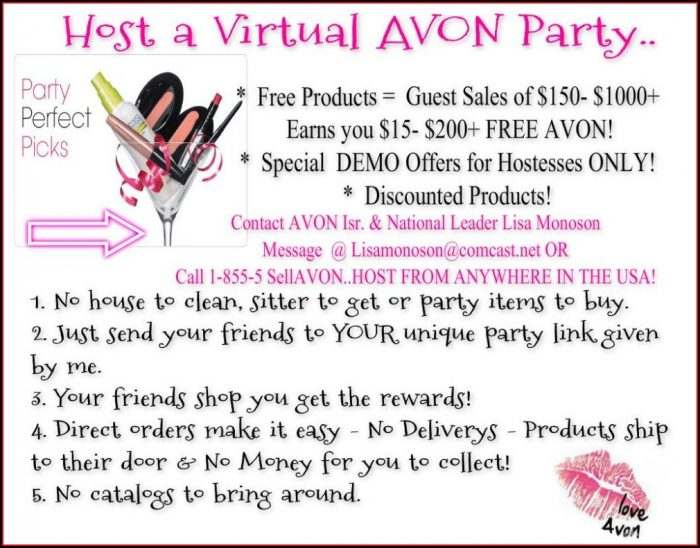 Avon Party Invitation Templates