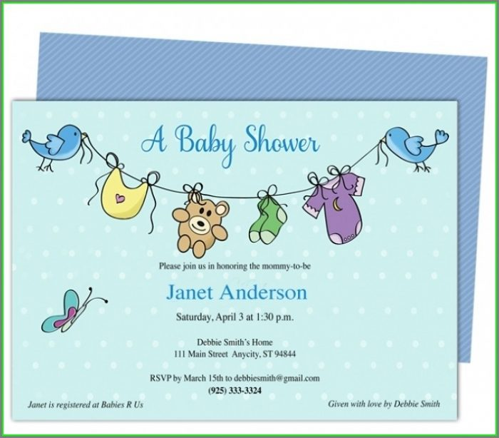 Baby Shower Flyer Template Free