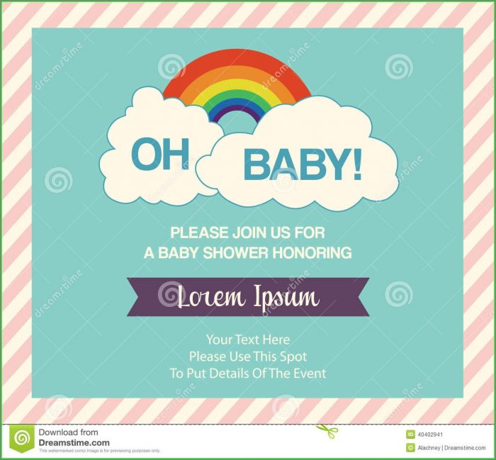 Baby Shower Invitation Templates Online