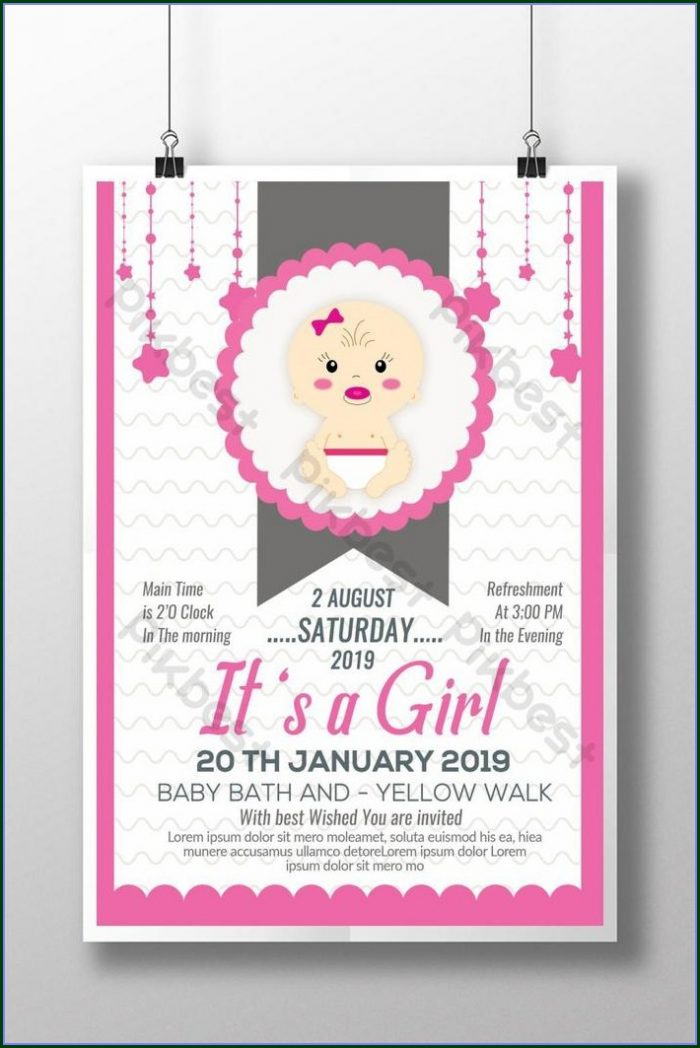 Baby Shower Poster Template Free