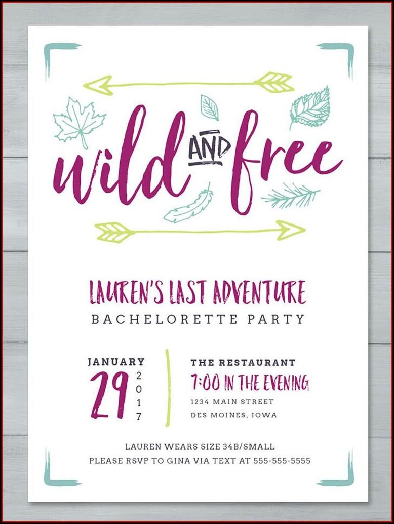 Bachelorette Invitation Templates Printable