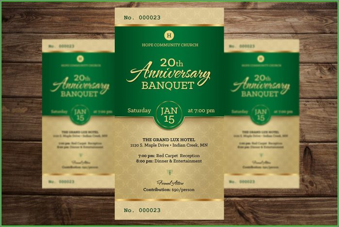 Banquet Ticket Template Publisher