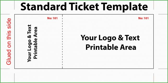 Banquet Ticket Template Word