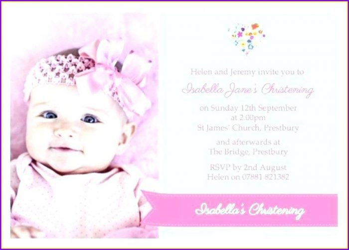 Baptismal Invitation Free Christening Invitation Templates Download