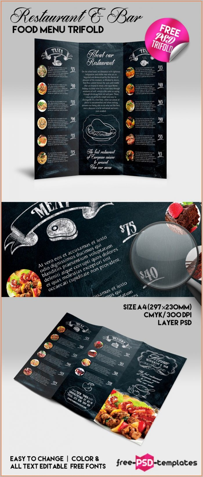 Bar Restaurant Menu Templates