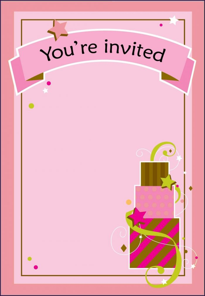 Birthday Invitation Templates Printable