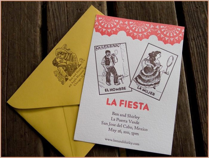 Blank Loteria Invitations Template