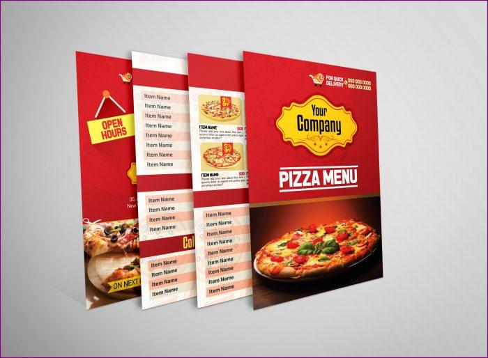Blank Pizza Menu Template