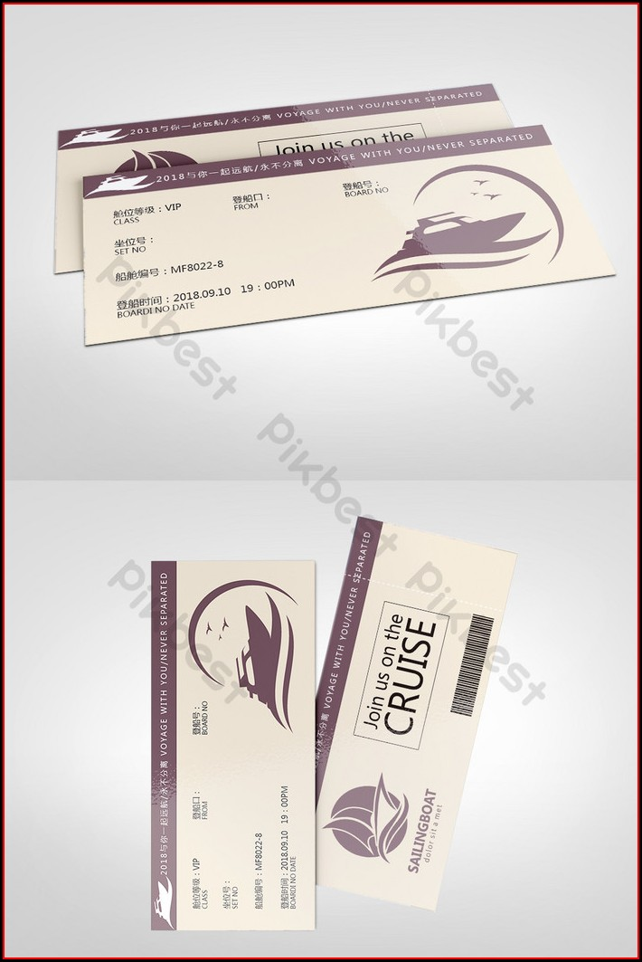Boat Ticket Template