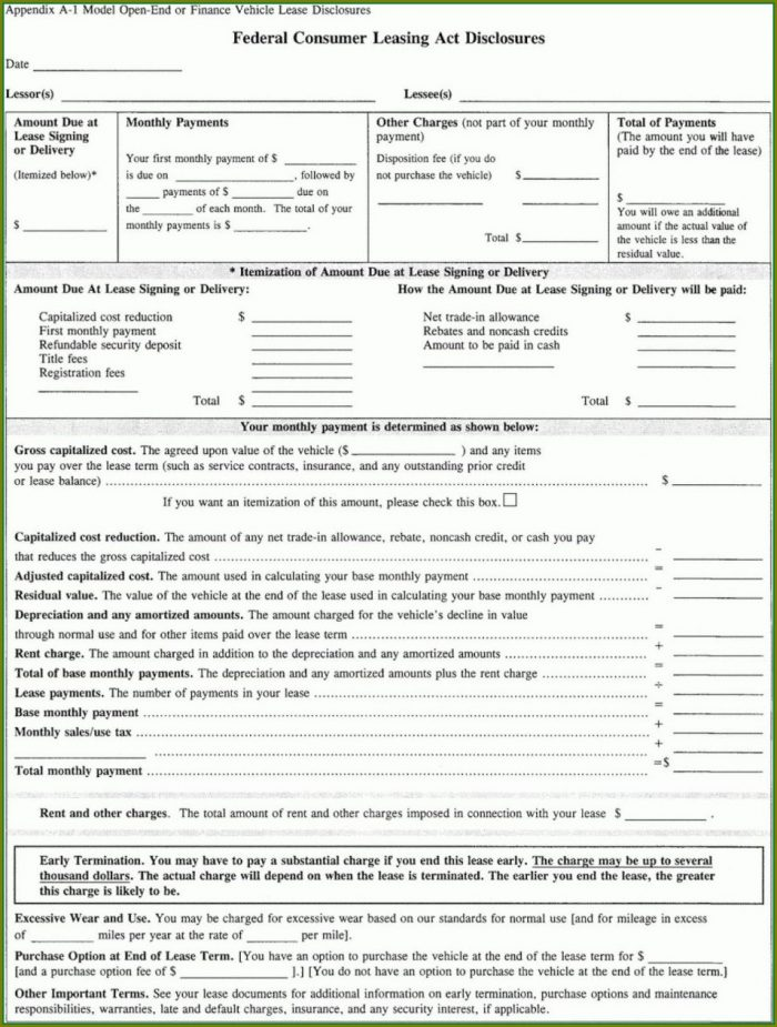 Car Lease Agreement Template South Africa