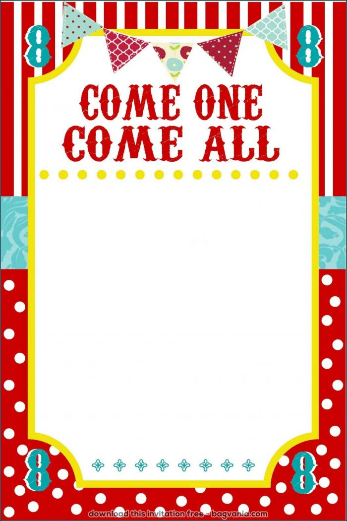 Carnival Ticket Invitation Template Free Download