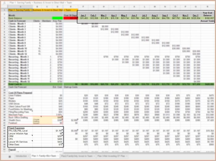 Cash Flow Forecasting Template
