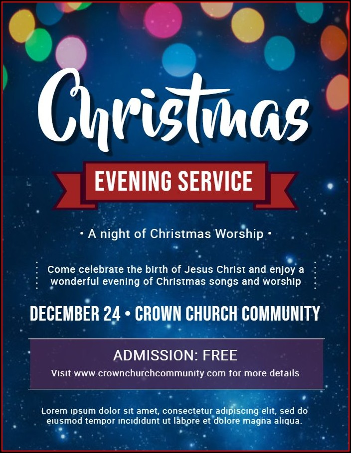Christian Christmas Flyer Template Free