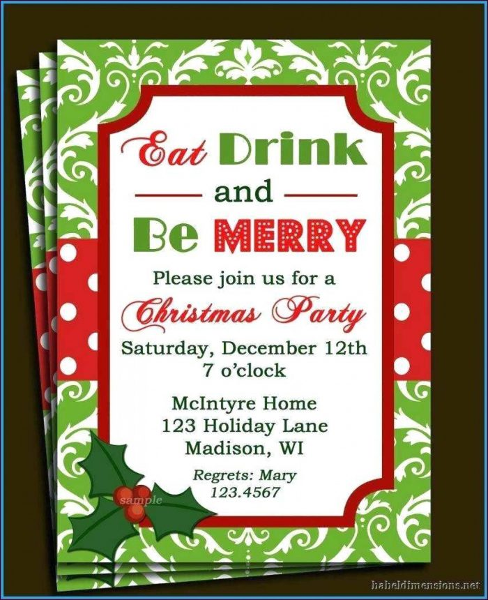 Christmas Invitation Templates Free Printable