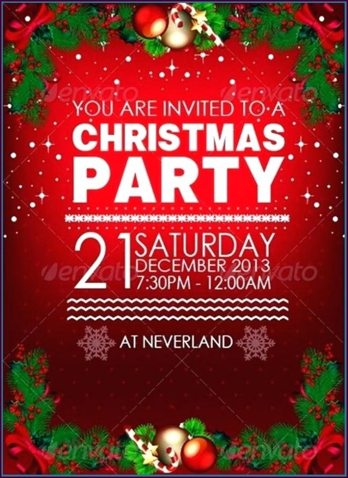 Christmas Potluck Party Invitation Template