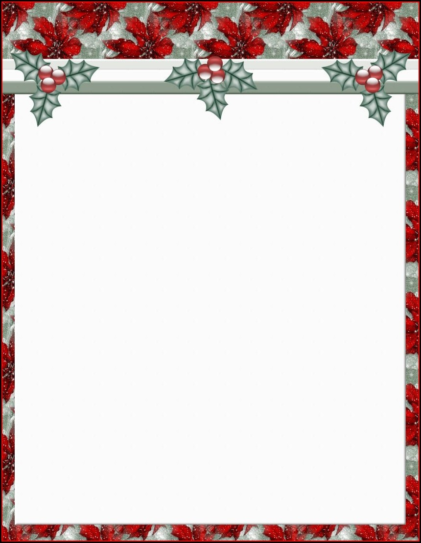Christmas Stationery Templates For Word