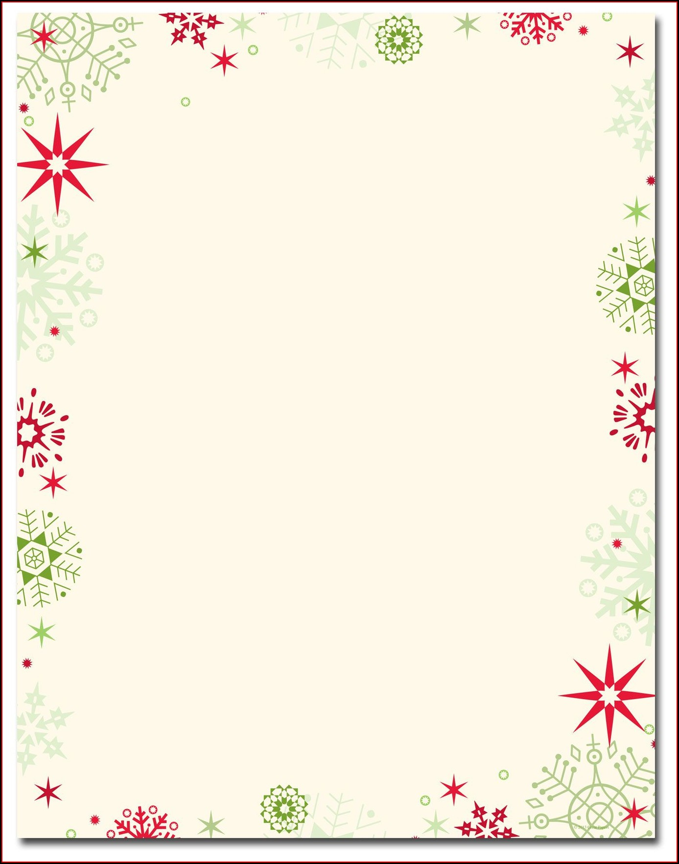 Christmas Stationery Templates Microsoft Word