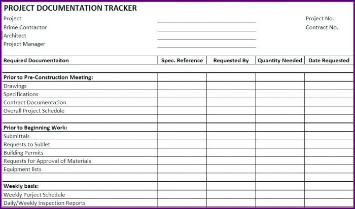 Commercial Construction Punch List Template