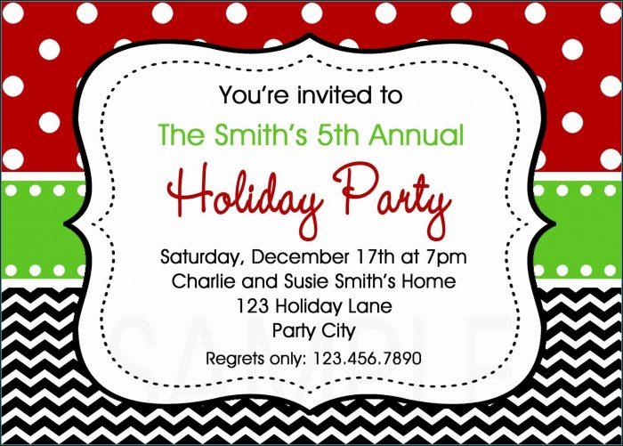 Company Holiday Party Invitation Template