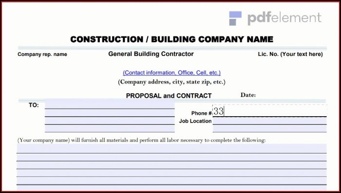 Construction Proposal Template Free Download (168)