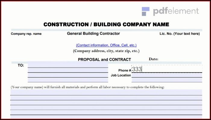 Construction Proposal Template Free Download (170)
