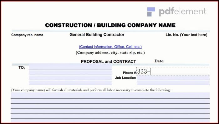 Construction Proposal Template Free Download (181)