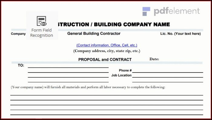 Construction Proposal Template Free Download (2)