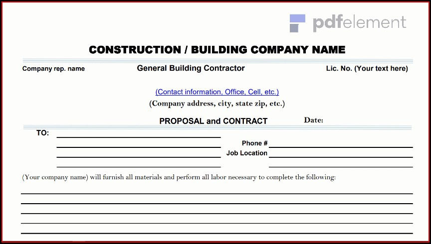 Construction Proposal Template Free Download (36)