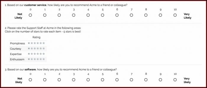 Customer Service Survey Templates
