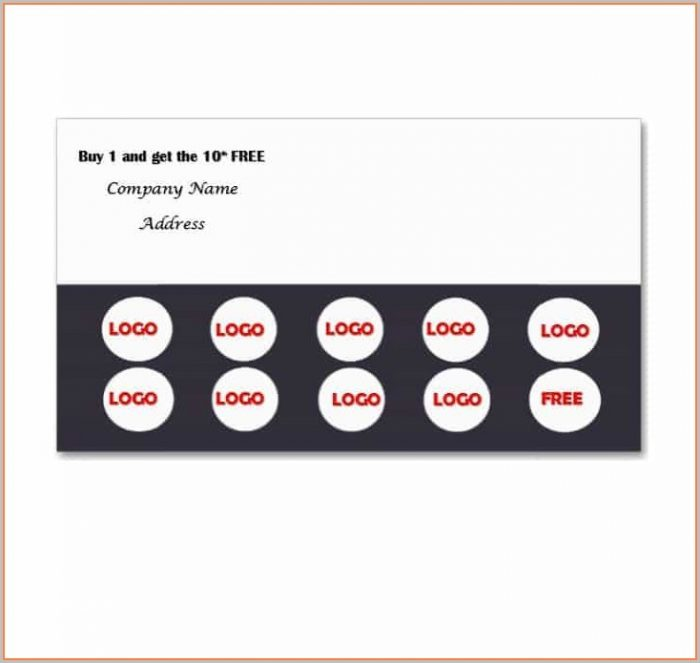 Customizable Free Editable Loyalty Card Template