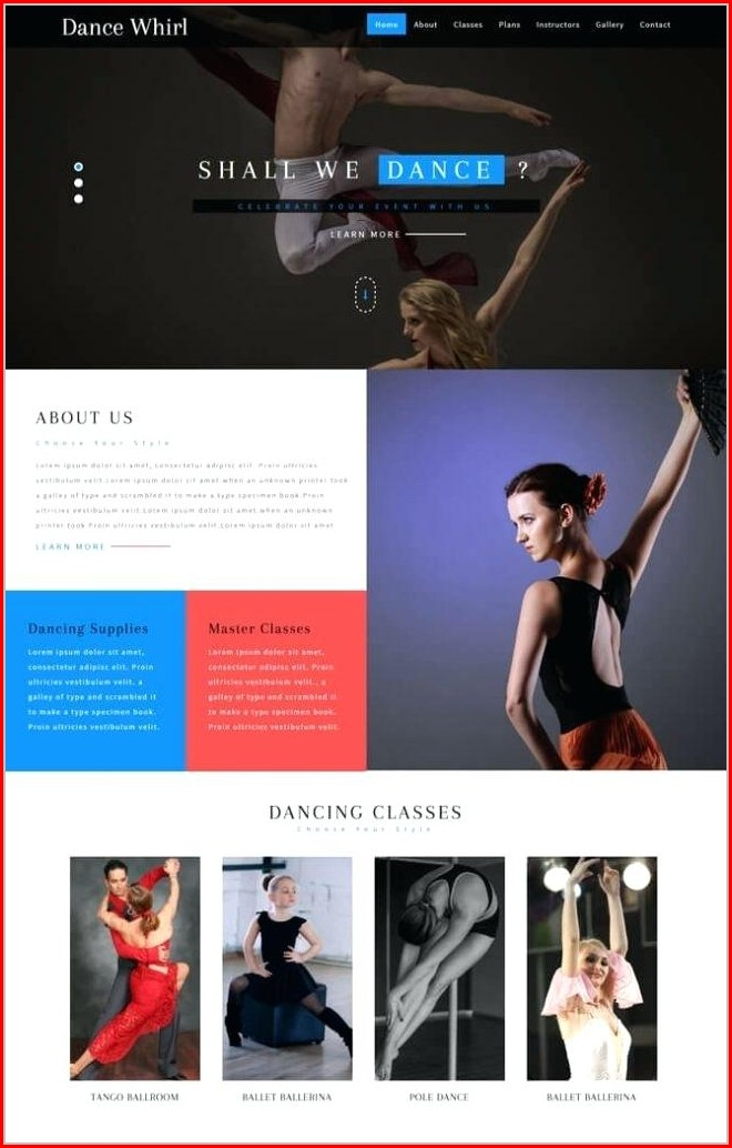 Dance Website Templates Free Download