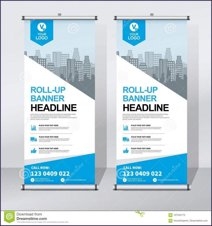 Design Pull Up Banner Template