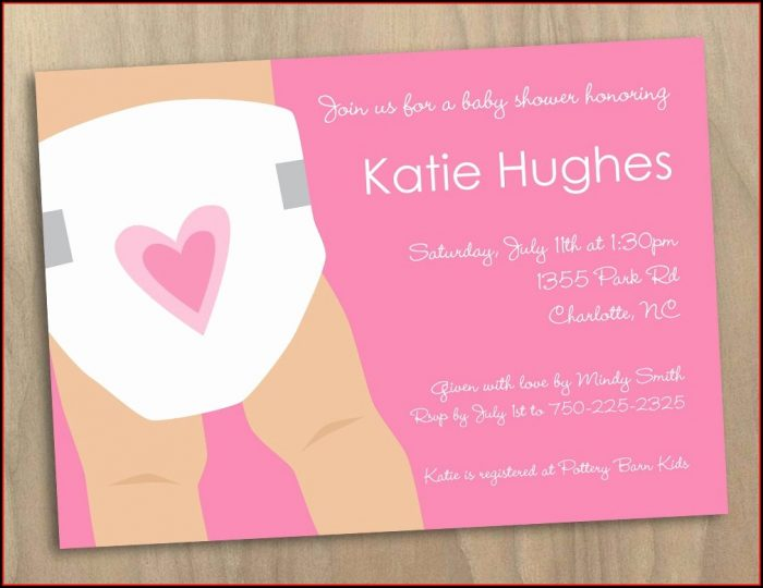Diaper Party Invitations Templates