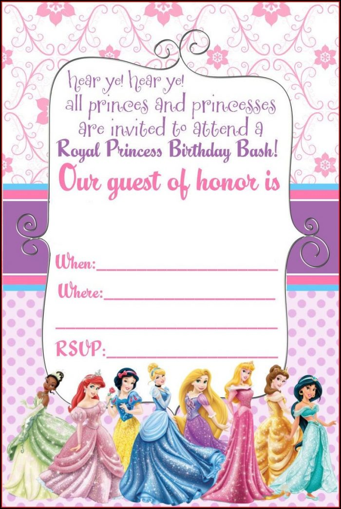 Disney Princess Birthday Template