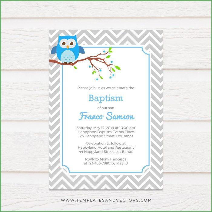 Diy Owl Invitation Template