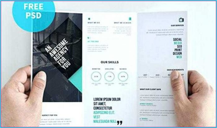 Double Sided Brochure Template Photoshop