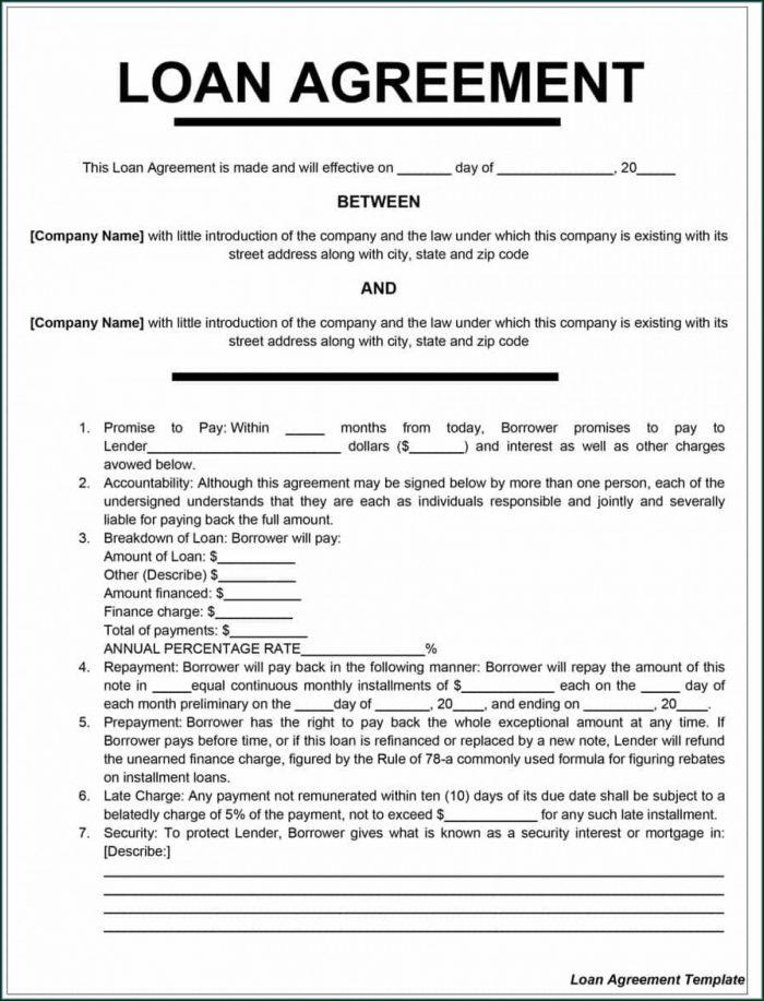 Download Free Loan Agreement Template Uk